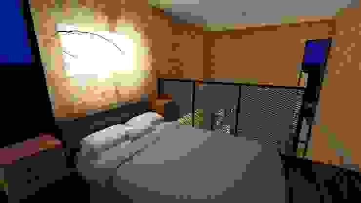 Habitaciones de estilo rústico de Richard Aléxis Silva Rústico