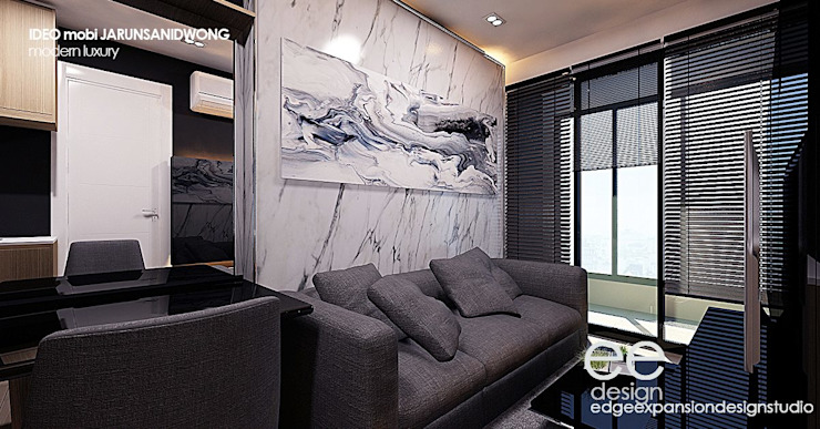 ตกแต่งคอนโดมิเนียม 1 bedroom modern luxury โดย EEdesign studio