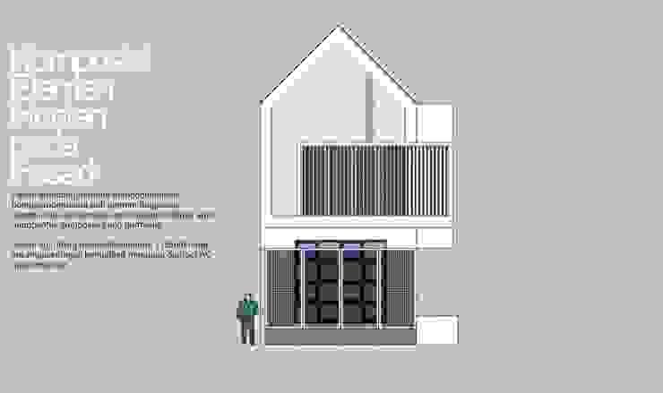 Fasad satu buah hunian:modern  oleh HRW architect, Modern