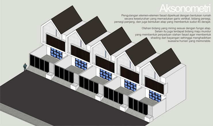 Aksonometri:modern  oleh HRW architect, Modern