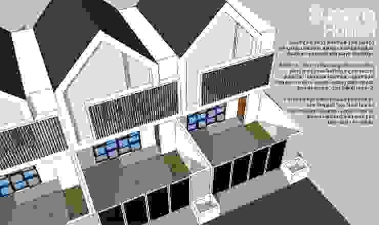 Shading bayangan:modern  oleh HRW architect, Modern