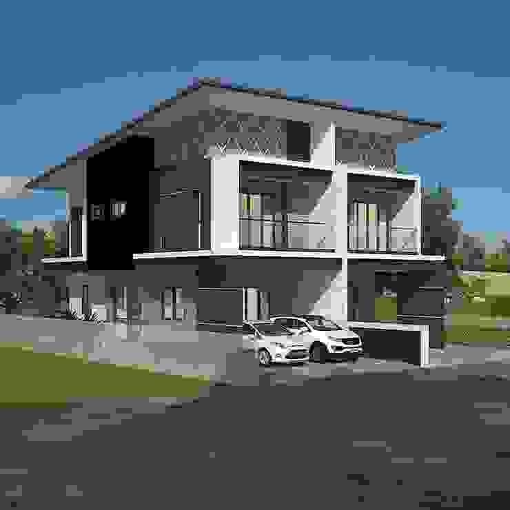 Modern Townhouse โดย T.A.S.Design Co.,Ltd.