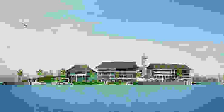 Khu nghỉ dưỡng Đảo Ngọc Nhà phong cách châu Á bởi Công ty cổ phần Kiến trúc và xây dựng AST Châu Á