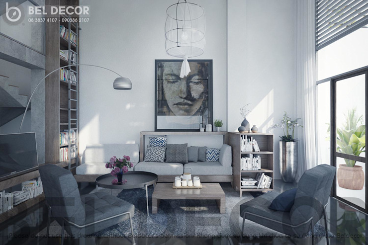 Living Room:   by Bel Decor,