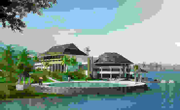 Khu nghỉ dưỡng Đảo Ngọc Nhà phong cách nhiệt đới bởi Công ty cổ phần Kiến trúc và xây dựng AST Nhiệt đới
