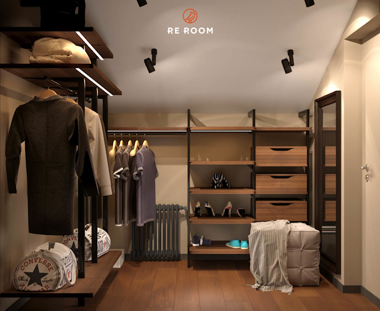 Reroom Eclectic style dressing rooms
