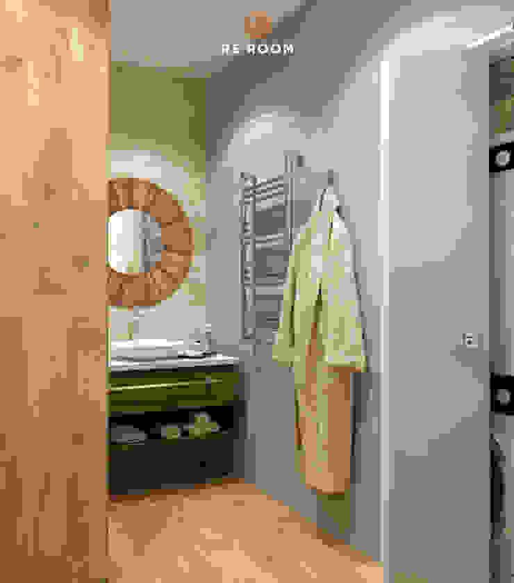Reroom Eclectic style bathroom Beige