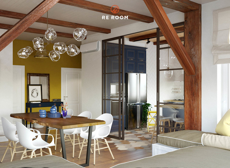 Reroom Eclectic style dining room