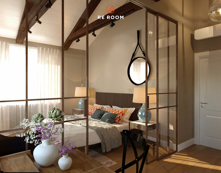 Reroom Eclectic style bedroom