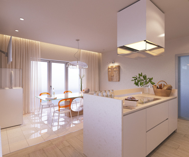LUXEMBURG Minimalist kitchen White