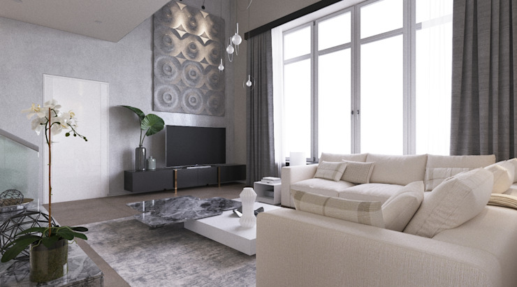 LUXEMBURG Minimalist living room Grey