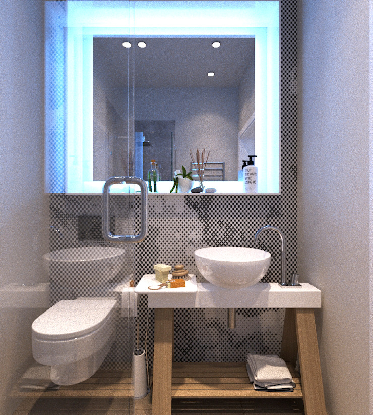 LUXEMBURG Minimalist bathroom Grey