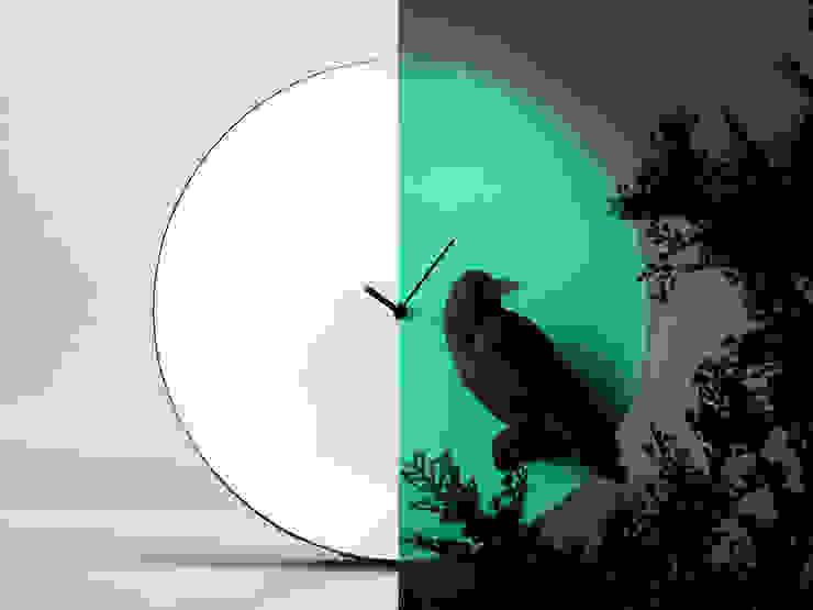 Haoshi Night Glow Raven Moon Clock: modern  by Just For Clocks,Modern Ceramic