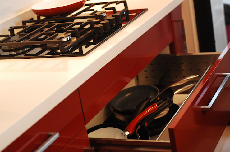 Cocina Providencia de ABS Diseños & Muebles Moderno Contrachapado