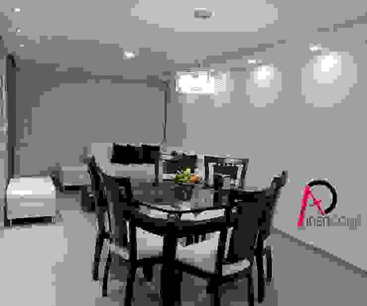 Un refugio con estilo moderno Salas de estilo minimalista de ibercons Arquitectura+Diseño Minimalista Piedra
