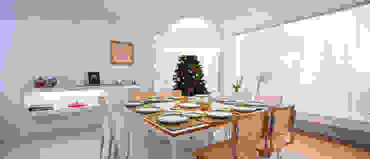Minimalist dining room by [ER+] Arquitectura y Construcción Minimalist