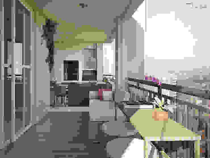Residencial Mooca Varandas, alpendres e terraços modernos por SET Arquitetura e Construções Moderno