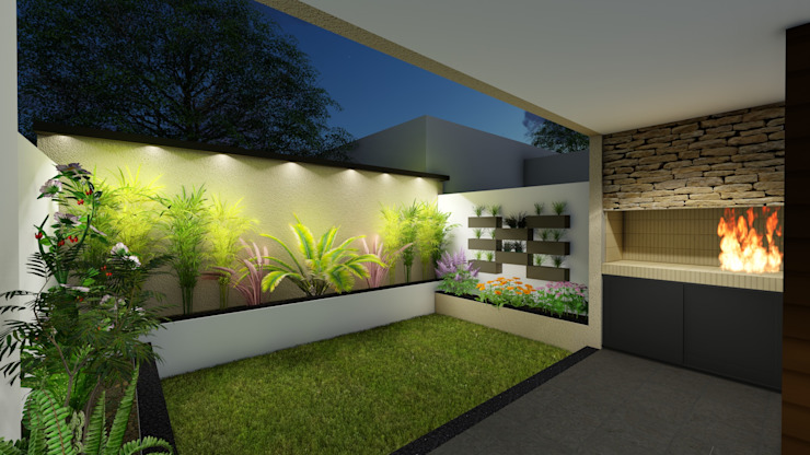 Garden by Arquitecto Leandro Puy, Minimalist
