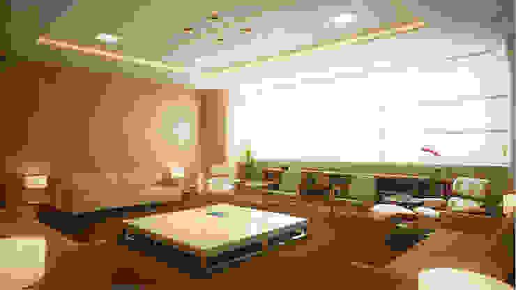SET Arquitetura e Construções Ruang Studi/Kantor Modern