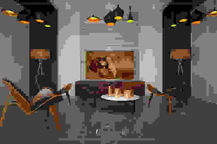 Visualización 3D Modern Media Room Wood Wood effect