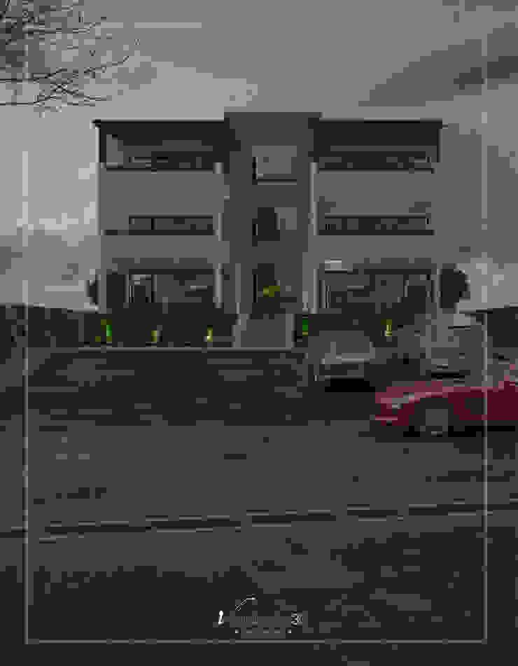 Visualización 3D Modern Houses Ceramic White