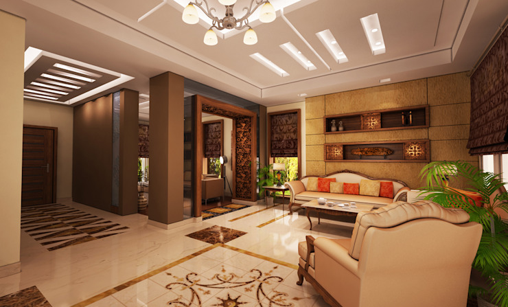 Private Residential Villa-Allegria Modern Living Room by SIGMA Designs Modern
