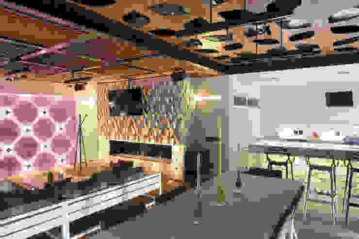 Cubic White Salas multimedia modernas de STUDIO COCOONS Moderno