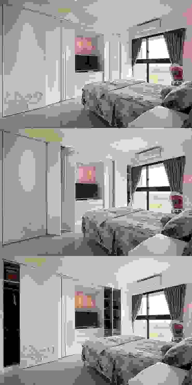 主臥衣櫃 開闔組圖 根據 趙玲室內設計 鄉村風