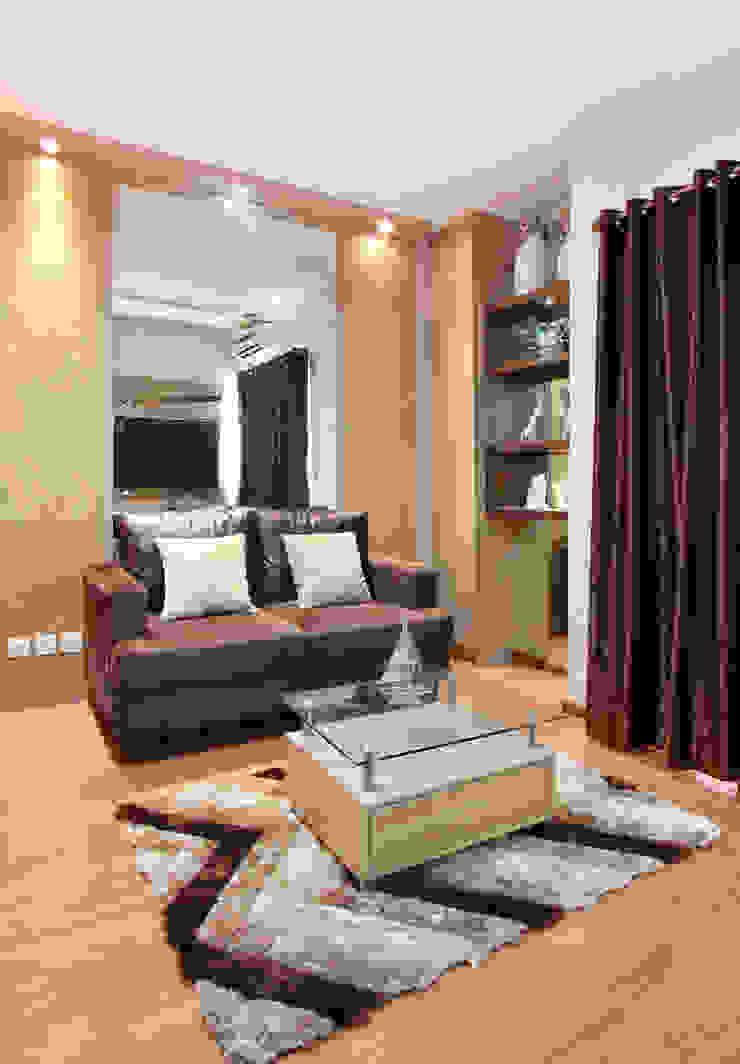 Interior Apartemen Tamansari Semanggi Ruang Keluarga Modern Oleh SAKA Studio Modern