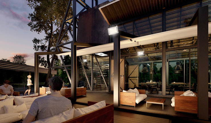 Boom Resort โดย ramรับออกแบบตกแต่งภายใน อินดัสเตรียล เหล็ก