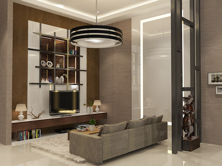 Living room by AIRE INTERIOR