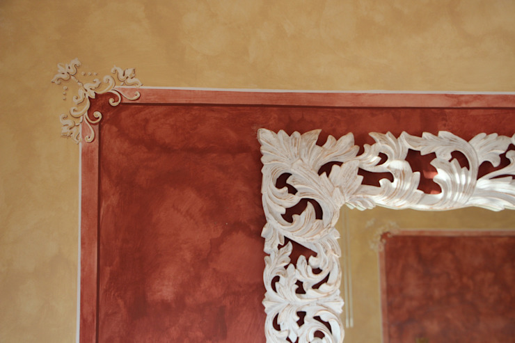 Pannello decorativo Colori nel Tempo - decorazioni pittoriche Soggiorno classico Rosso