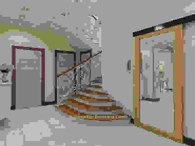 Couloir et hall d'entrée de style  par Архитектурное Бюро 'Капитель',
