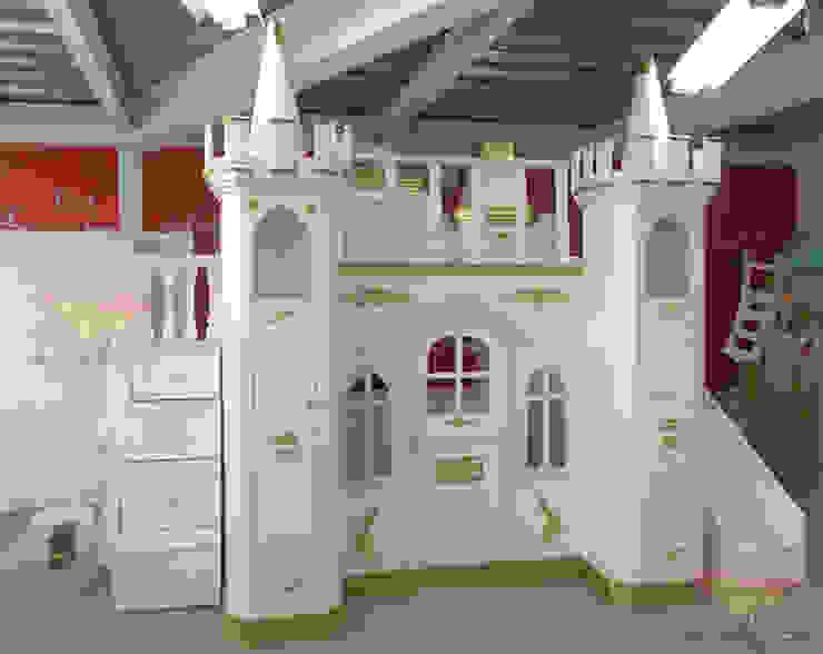 Elegante castillo Dorado de camas y literas infantiles kids world Clásico Derivados de madera Transparente