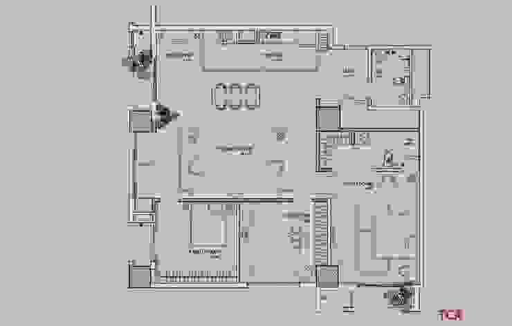Căn hộ chung cư cao cấp TimesCity - T11: hiện đại  by deline architecture consultancy & construction, Hiện đại