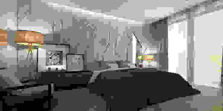 Căn hộ chung cư cao cấp TimesCity – T11 Phòng ngủ phong cách hiện đại bởi deline architecture consultancy & construction Hiện đại