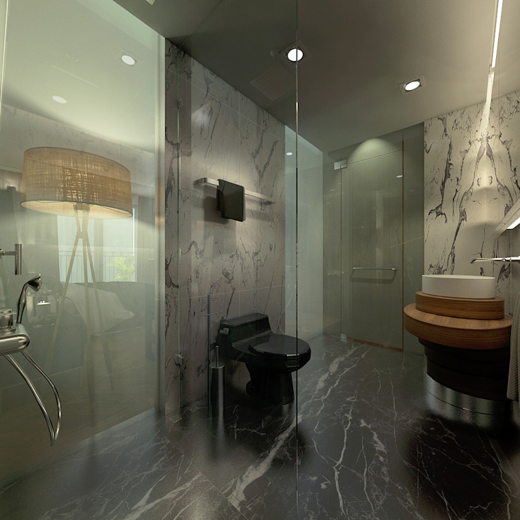 Căn hộ chung cư cao cấp TimesCity – T11 Phòng tắm phong cách hiện đại bởi deline architecture consultancy & construction Hiện đại