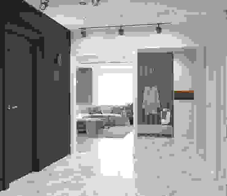 Прихожая в современном стиле Коридор, прихожая и лестница в модерн стиле от Design interior OLGA MUDRYAKOVA Модерн Дерево Эффект древесины