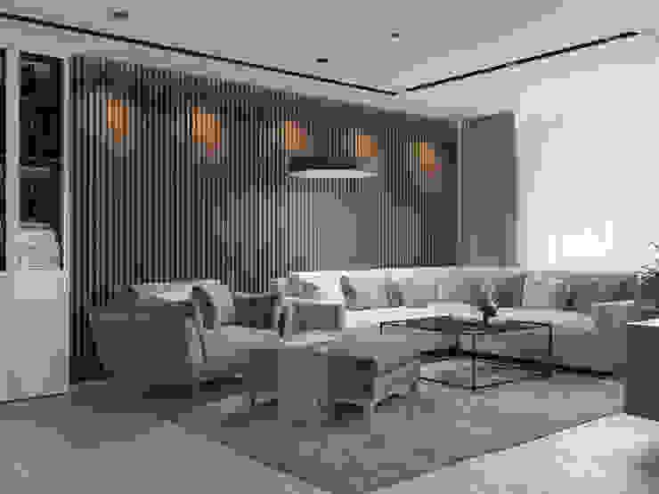 Гостиная в современном стиле Гостиная в стиле модерн от Design interior OLGA MUDRYAKOVA Модерн Дерево Эффект древесины