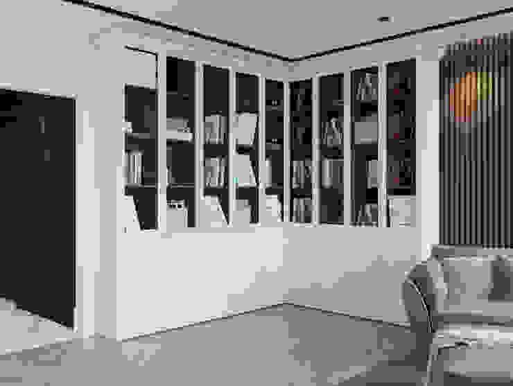 Шкаф в двухкомнатной квартире Гостиная в стиле модерн от Design interior OLGA MUDRYAKOVA Модерн Дерево Эффект древесины