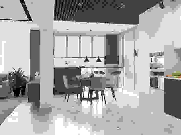 Кухня в современном стиле от Design interior OLGA MUDRYAKOVA Модерн Дерево Эффект древесины