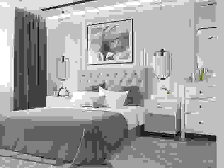 Спальня в современном стиле Спальня в стиле модерн от Design interior OLGA MUDRYAKOVA Модерн Дерево Эффект древесины
