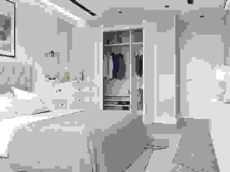 Гардеробная в спальне Спальня в стиле модерн от Design interior OLGA MUDRYAKOVA Модерн Дерево Эффект древесины