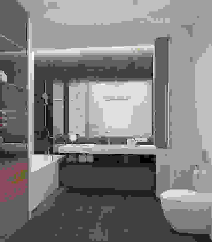 Санузел в современном стиле Ванная комната в стиле модерн от Design interior OLGA MUDRYAKOVA Модерн Плитка