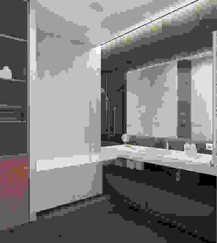 Ванная комната в современном стиле Ванная комната в стиле модерн от Design interior OLGA MUDRYAKOVA Модерн Плитка