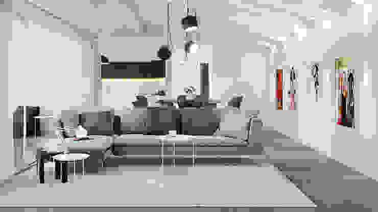 Salon de style  par Pitzus Group Costruzioni S.r.l., Moderne