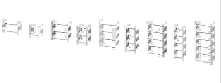 por Architekturbüro Michael Bidner Moderno Madeira Efeito de madeira