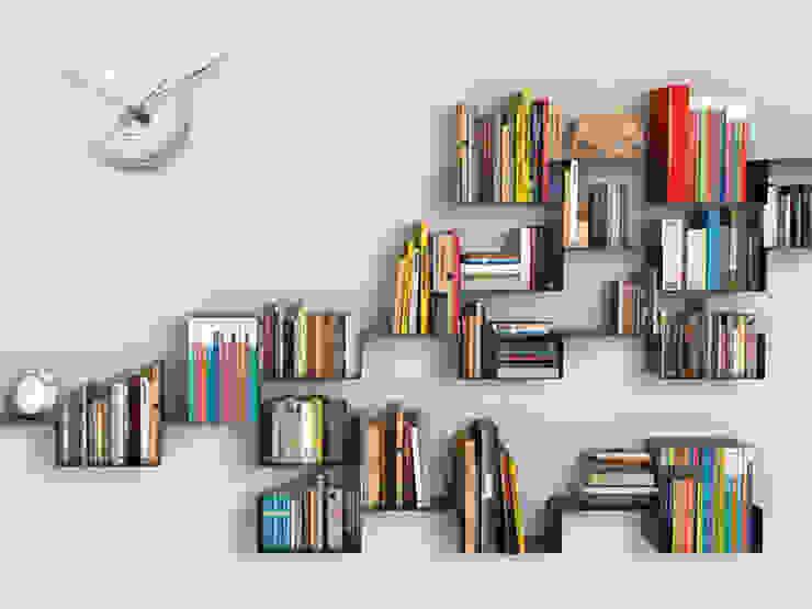 Karlsson Ceramic Dot - White: modern  by Just For Clocks,Modern Ceramic