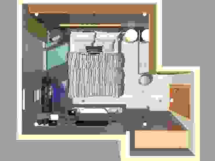 Layout Plan Kamar Tidur Modern Oleh Vaastu Arsitektur Studio Modern