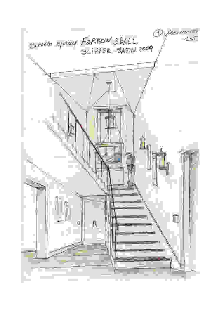 Лестница на 2 этаж Коридор, прихожая и лестница в стиле кантри от Вадим Галина Кожевниковы Кантри